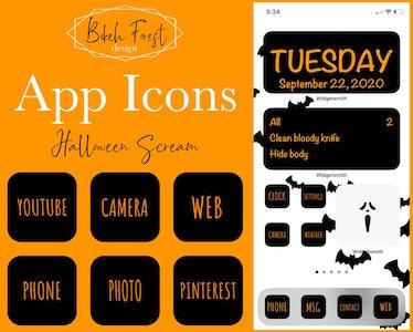 App Icons - Halloween Scream iPhone iOS14