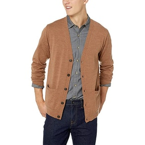 Goodthreads Men's Lightweight Merino Wool Cardigan Sweater