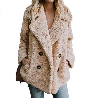 Zeagoo Women's Warm Faux Fur Coat