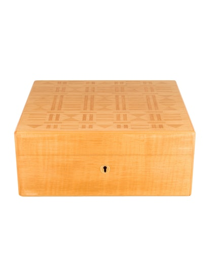 Hermes Wood Jewelry Box