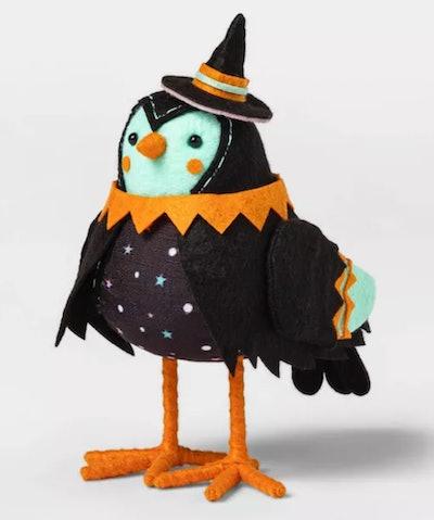 Witch Bird Decorative Halloween Figurine
