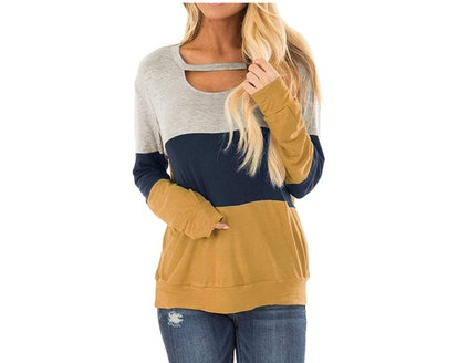 Topstype Color Block Sweater