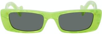 Green Geometric Sunglasses