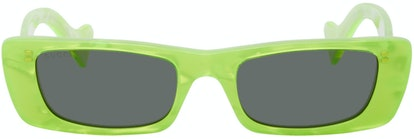 Green Geometric Sunglasses