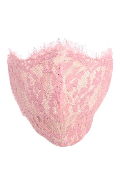 Lace Face Mask - Blush
