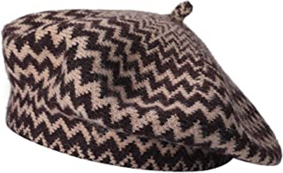 ZLYC French Beret Hat Fashion Print Lightweight Winter Warm Artist Hat for Women