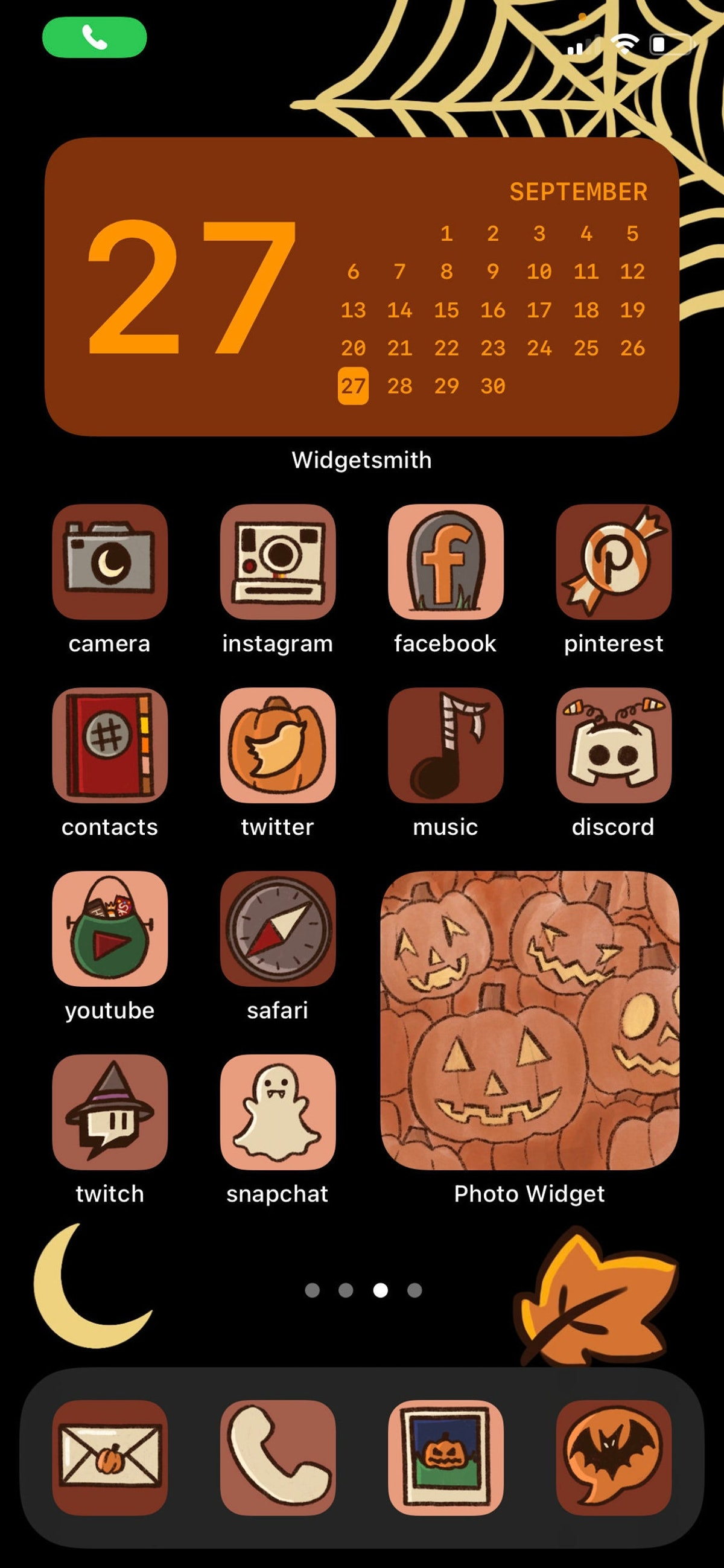 Halloween/Fall Themed iOS 14 Icon Pack