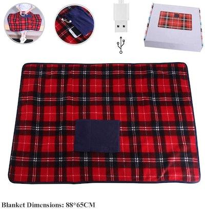 HJHY@ Portable USB Lap Heated Throw Blanket