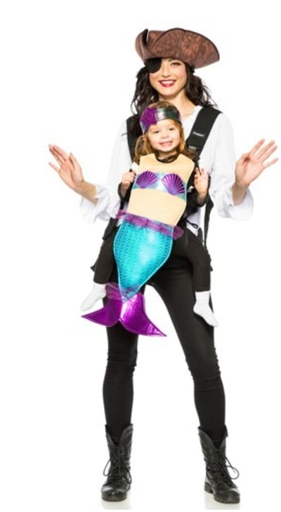 Adult Pirate and Mermaid Toddler Carrier Costume