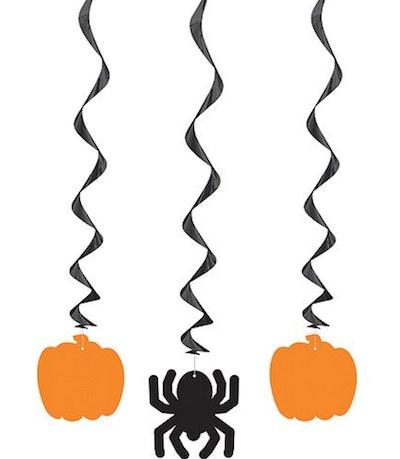Pumpkin & Spider Hanging Decorations