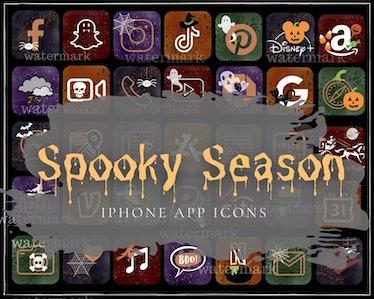 Halloween Aesthetic iPhone app icons