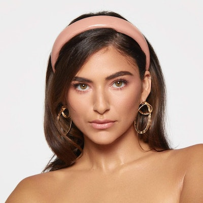 Patent Padded Headband In Blush