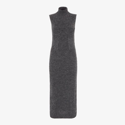 Gray Mohair And Cashmere Dress