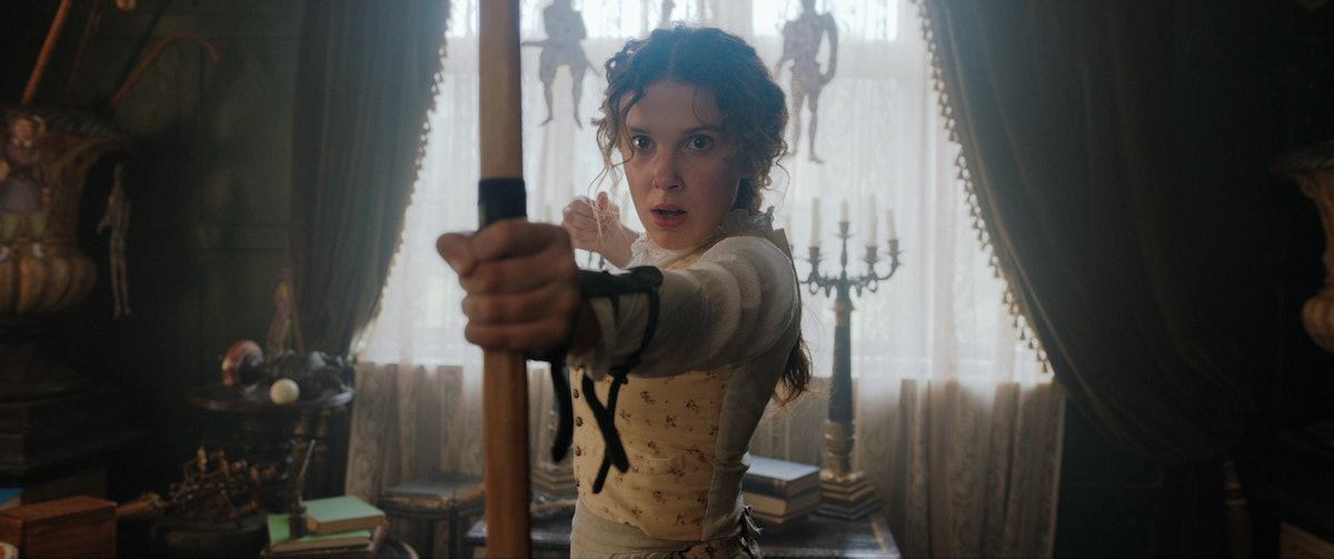 ENOLA HOLMES: MILLIE BOBBY BROWN as ENOLA HOLMES on Netflix