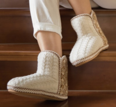 RockDove Cheyenne Cable Knit Bootie