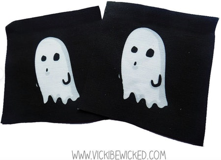 Sew On Ghost Black Fabric Patch