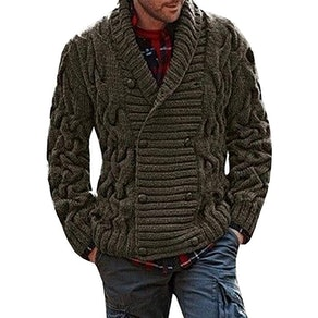 Hestenve Men's Double Breasted Cardigan