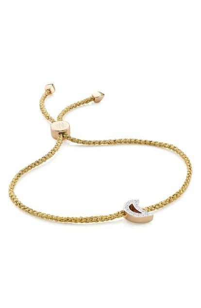 Alphabet Moon Diamond Friendship Bracelet