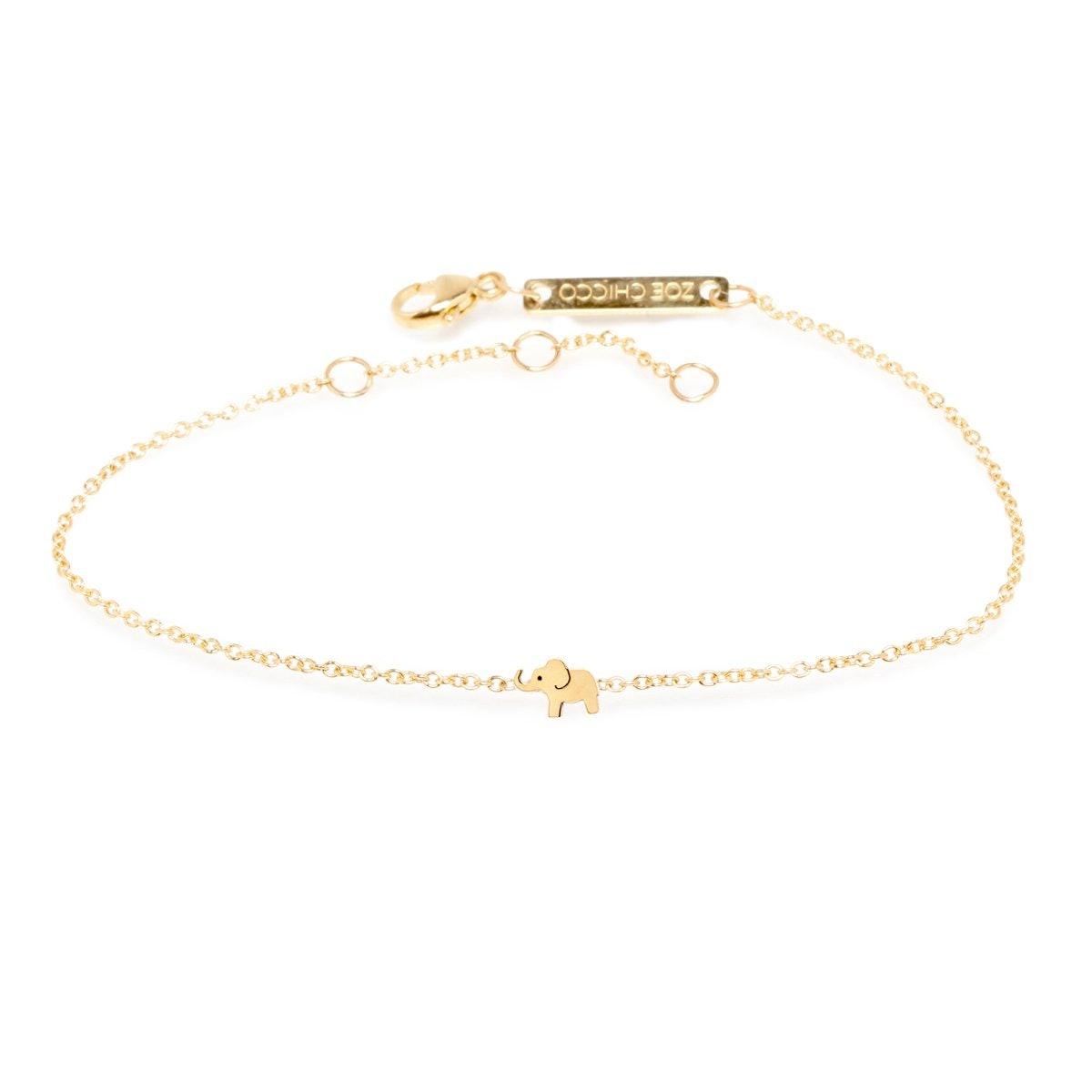 14k Itty Bitty Elephant Bracelet