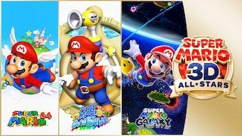 super mario 3d all-stars logos