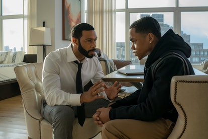 Omari Hardwick as Ghost & Michael Rainey Jr. as Tariq in 'Power'