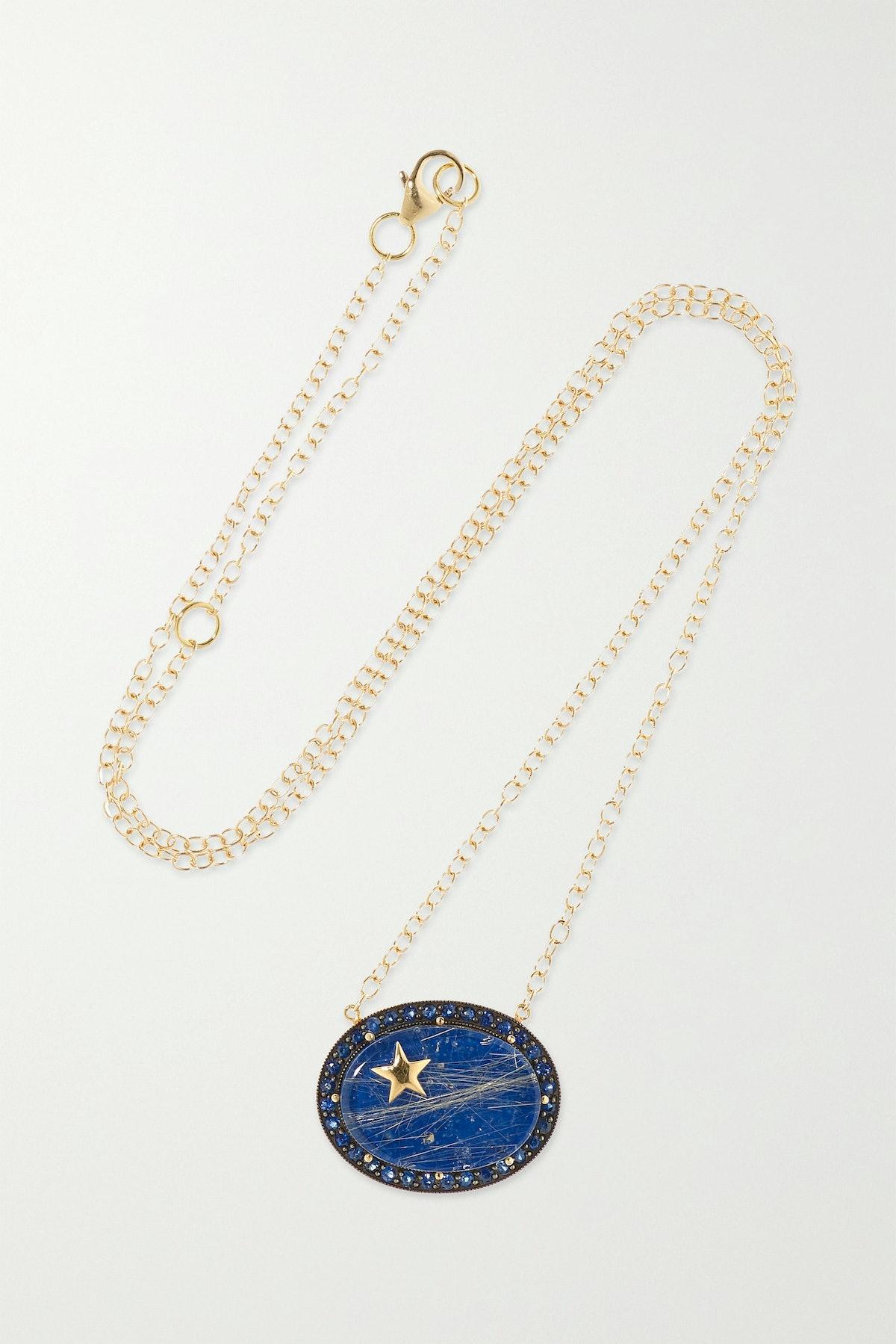 Zenith 14-Karat Gold Multi-Stone Necklace