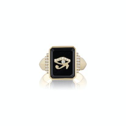 Eye of Horus Signet Ring