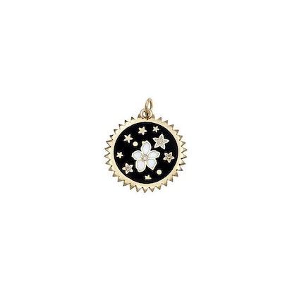 Dark Blossoms Petite Champleve Medallion