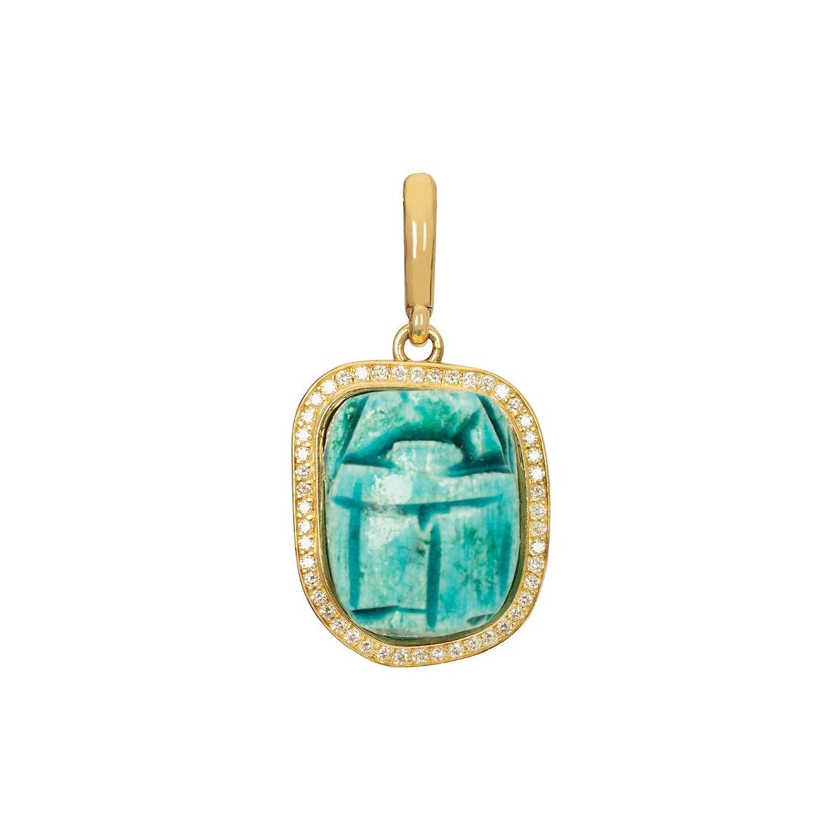 Turquoise Scarab Pendant