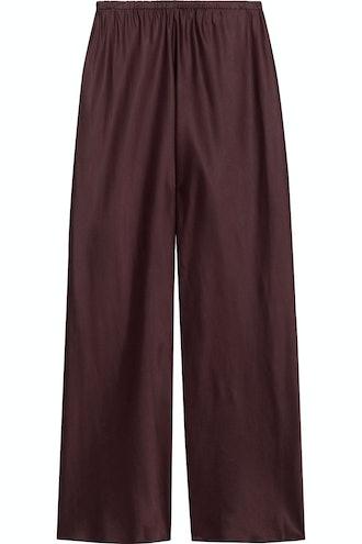 Gala Satin Wide-Leg Pants