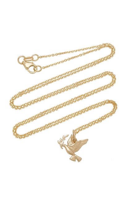 Peace 14K Gold Necklace