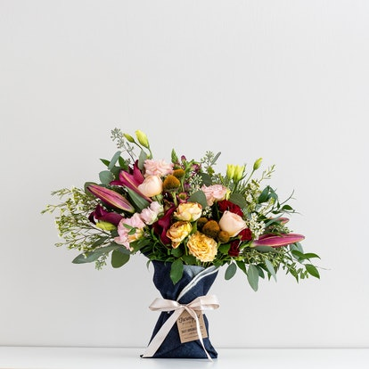 Fun Size Denim-Wrapped Bouquet
