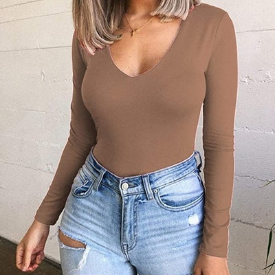 Allchic Long Sleeve Bodysuit