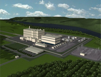TerraPower's hypothetical plant, as seen on its website. A Natrium plant, meant to be smaller, might look different.