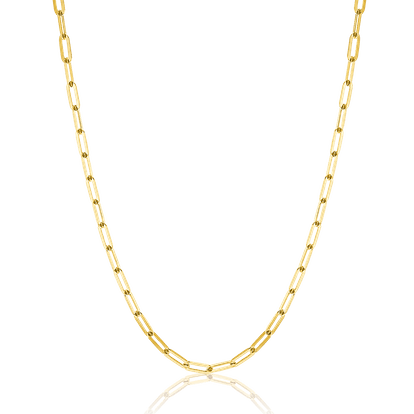 14K DIAMOND CUT OVAL LINK CHAIN NECKLACE