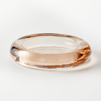 Bangle Dirty Rose Low Glass Bowl