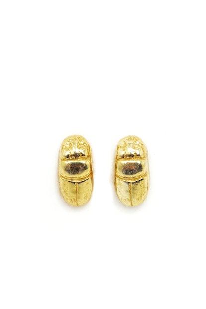 The Scarab Beetle Stud Earrings