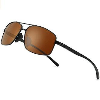 SUNGAIT Ultra Lightweight Rectangular Polarized Sunglasses