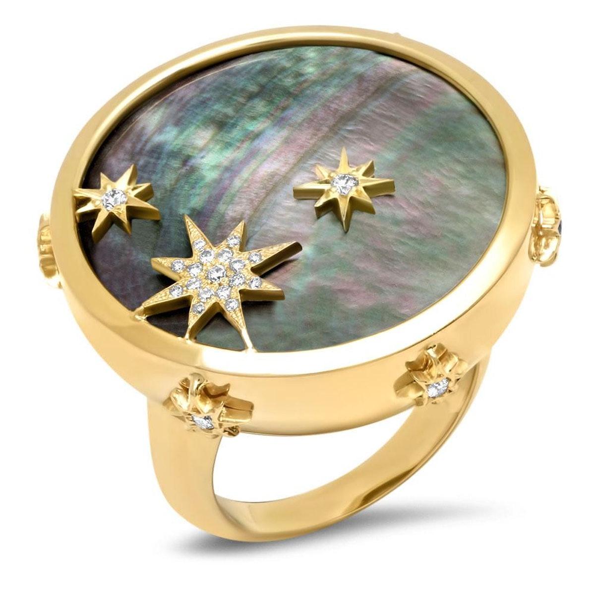 18K Blue Moon Diamond Ring