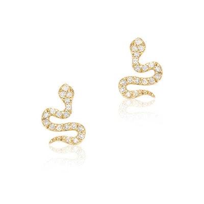 Petite Snake Post Earrings
