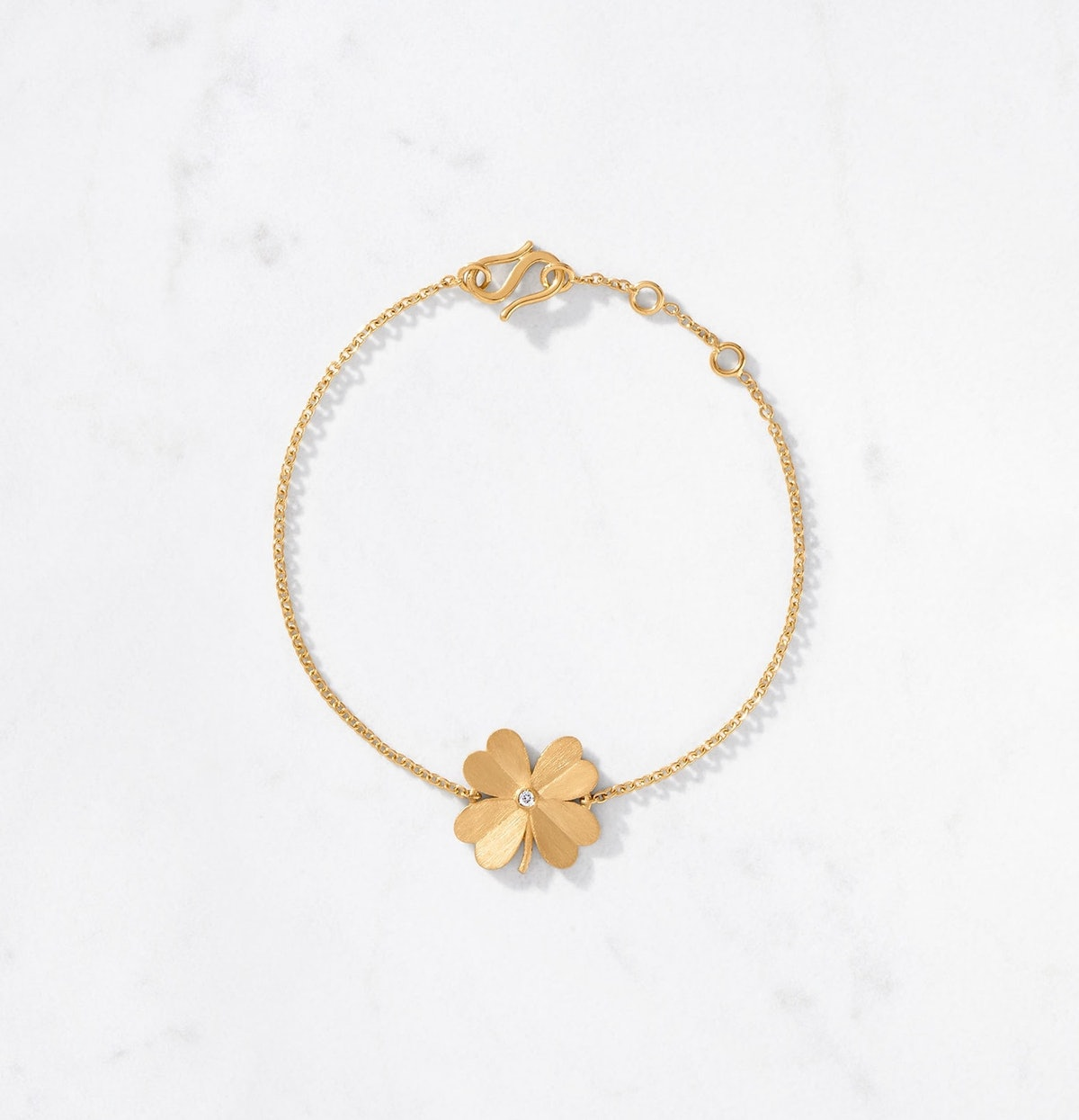 4-Leaf Clover Bracelet Satin