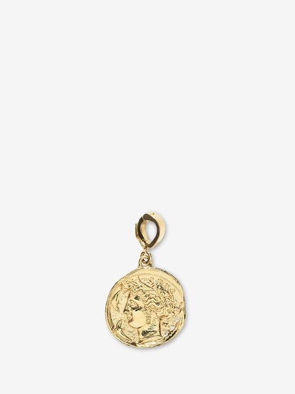 Goddess Small Diamond Coin Charm
