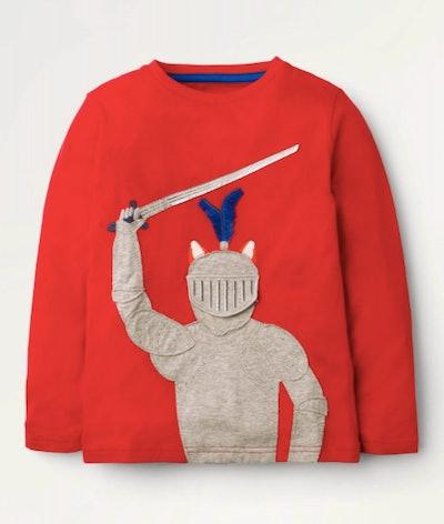 Medieval Novelty T-Shirt - Rockabilly Red Knight