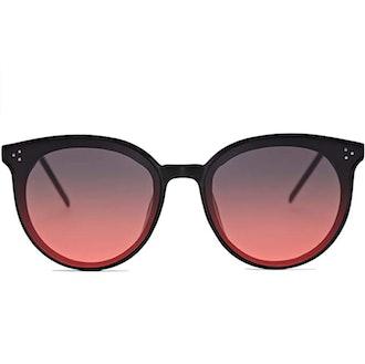SOJOS Round Rivet Sunglasses