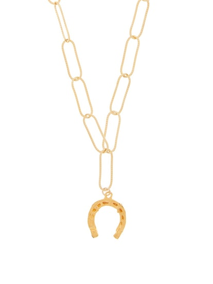 The Captured Horseshoe 24kt Gold-Plated Necklace