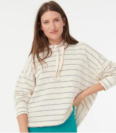 Pullover hoodie in zigzag stripe