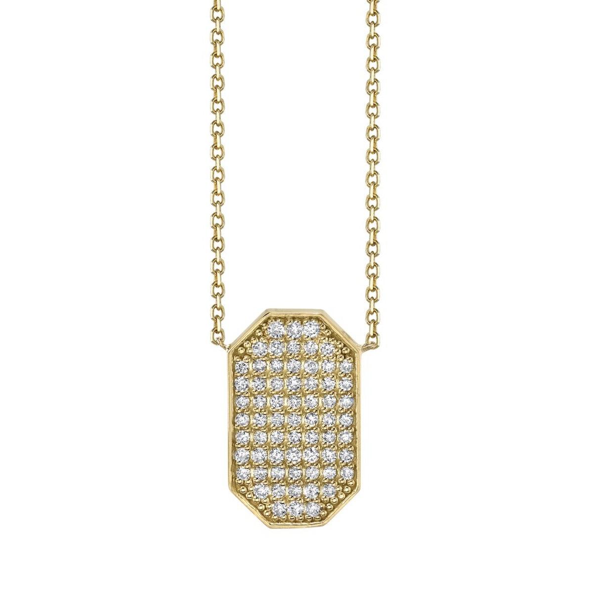 Devi Gold Diamond Shield Necklace