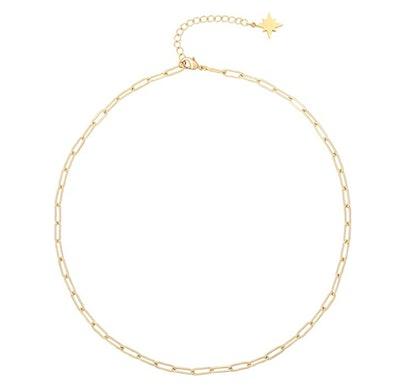 18k Gold Satellite Chain Choker