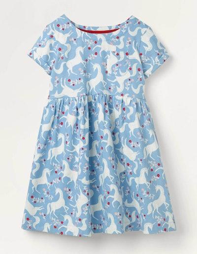 Fun Jersey Dress (Blue Frosted Unicorn)