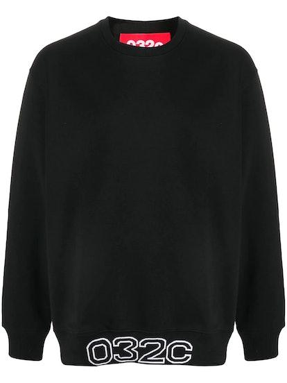 Oversized logo-hem sweatshirt